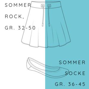 KOMBI Sommerrock o´summer + Sommersocke Sarah
