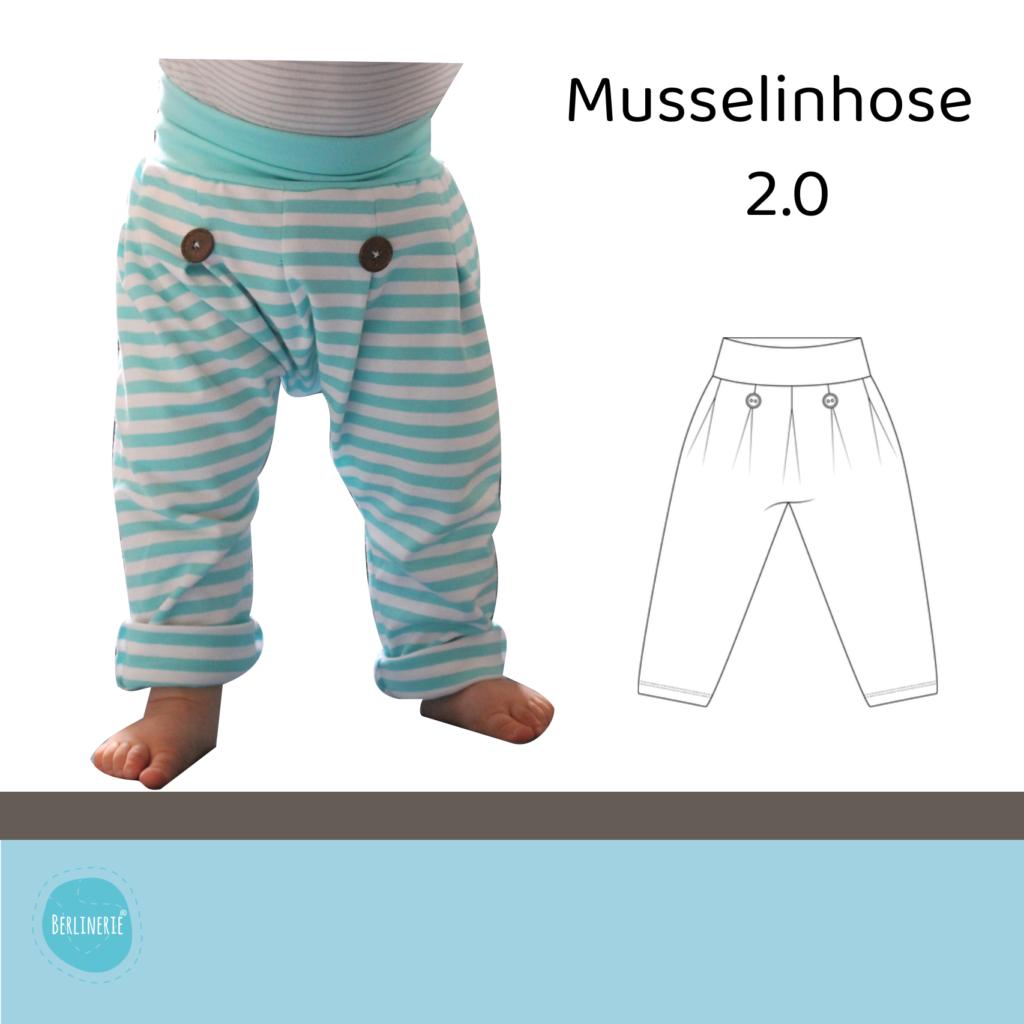 musselin hose schnittmuster Kinder
