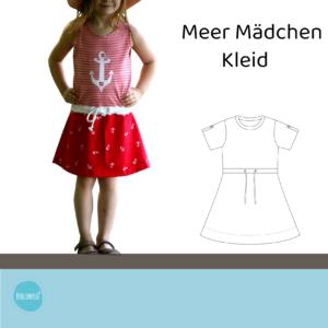 Meer Mädchen Kleid Gr. 62-170 + Plottdateien-SET