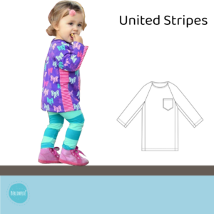 "Raglanshirt Gr. 80-134 ""United Stripes"""